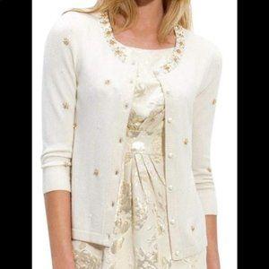 Kate Spade Wool Cashmere Knit Embellished Cardigan